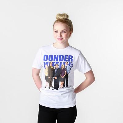 Main view of Womens Dunder Mifflin Boyfriend Tee - White