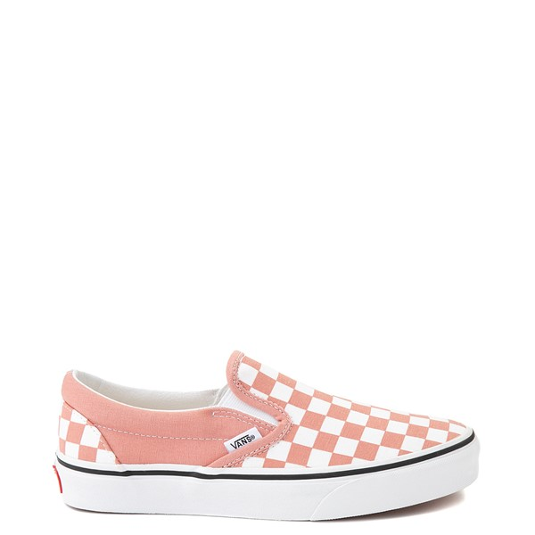 Main view of Vans Slip On Checkerboard Skate Shoe - Rose Dawn
