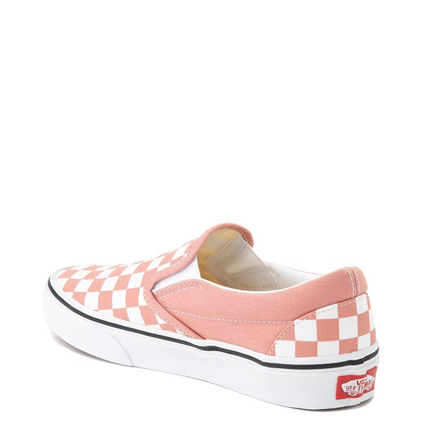 alternate image alternate view Vans Slip On Checkerboard Skate Shoe - Rose DawnALT1