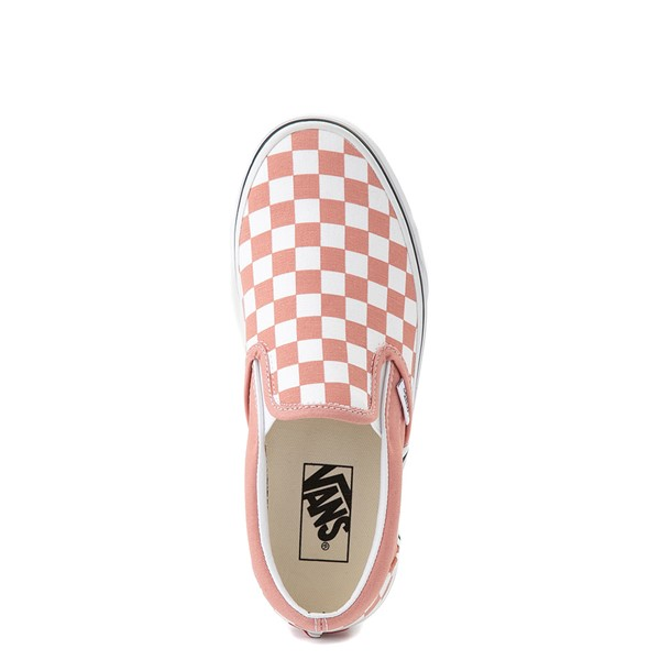 alternate image alternate view Vans Slip On Checkerboard Skate Shoe - Rose DawnALT2