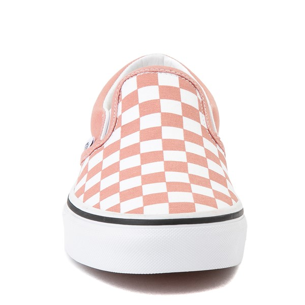 alternate image alternate view Vans Slip On Checkerboard Skate Shoe - Rose DawnALT4