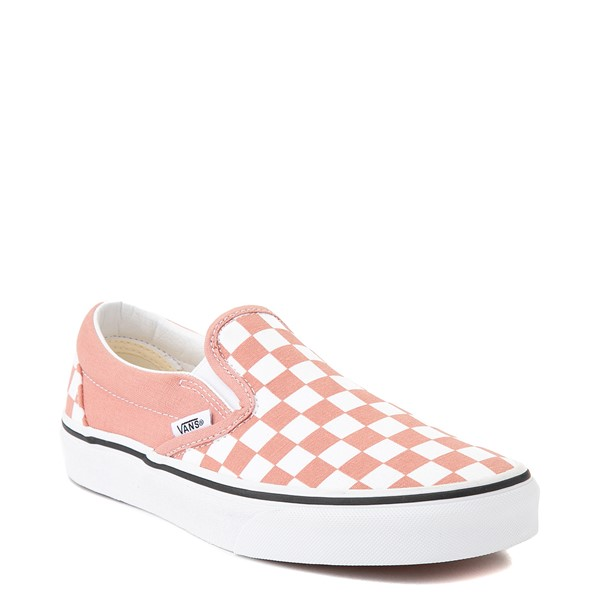 alternate image alternate view Vans Slip On Checkerboard Skate Shoe - Rose DawnALT5
