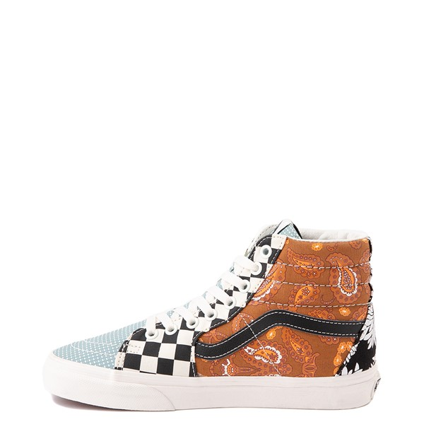 alternate image alternate view Vans Sk8 Hi Tiger Patchwork Skate Shoe - MulticolorALT1