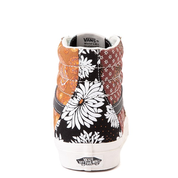 alternate image alternate view Vans Sk8 Hi Tiger Patchwork Skate Shoe - MulticolorALT4