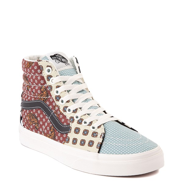 alternate image alternate view Vans Sk8 Hi Tiger Patchwork Skate Shoe - MulticolorALT5