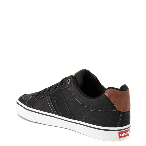 alternate image alternate view Mens Levi's Turner Casual Shoe - Black / TanALT1
