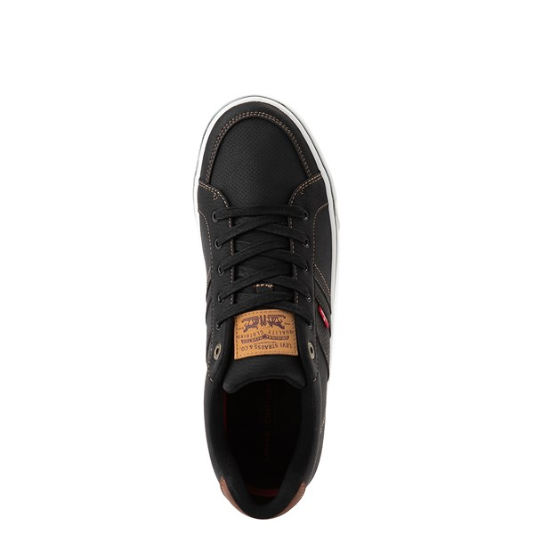 alternate image alternate view Mens Levi's Turner Casual Shoe - Black / TanALT4B