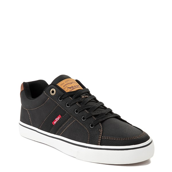 alternate image alternate view Mens Levi's Turner Casual Shoe - Black / TanALT5