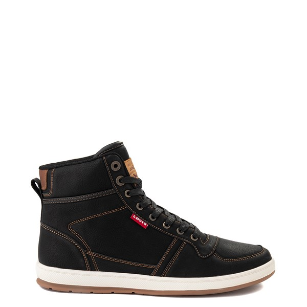 Mens Levi's Stanton Hi Casual Shoe - Black