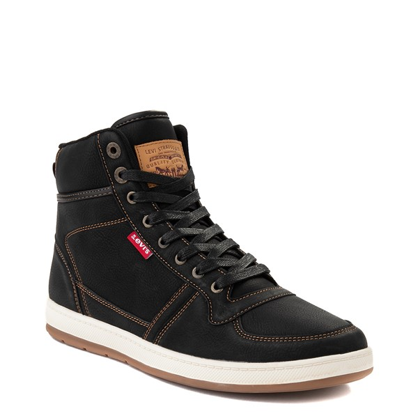 alternate image alternate view Mens Levi's Stanton Hi Casual Shoe - BlackALT5