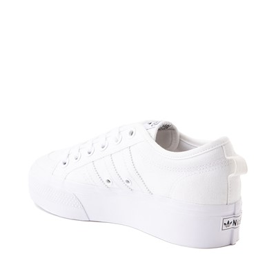Alternate view of Womens adidas Nizza Platform Athletic Shoe - White
