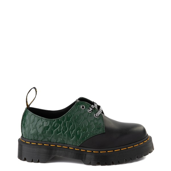 Main view of Dr. Martens x X-Girl 1461 Bex Casual Shoe - Black / Green