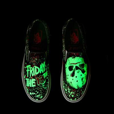 Alternate view of Vans x Horror Slip On Friday The 13th Skate Shoe - Black