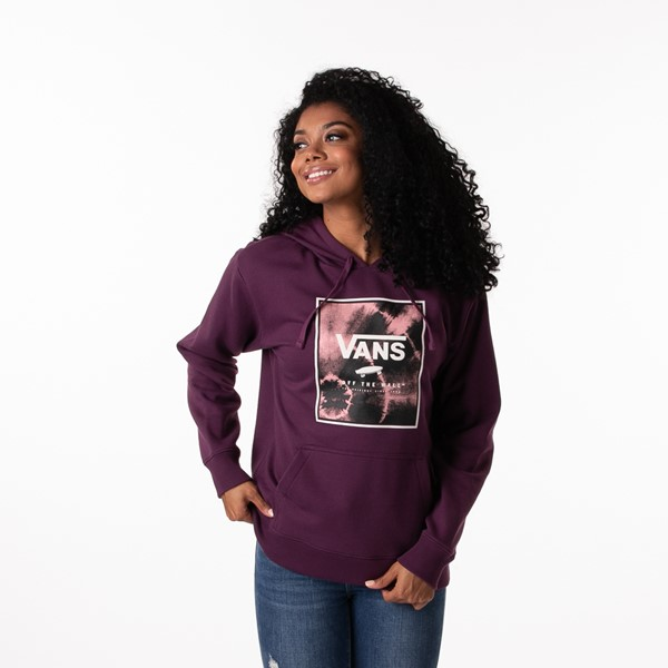 Main view of Womens Vans Spiraling Box Hoodie - Plum