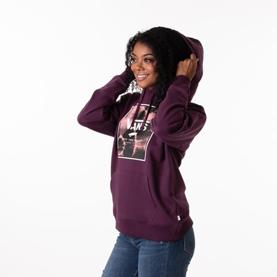 Alternate view of Womens Vans Spiraling Box Hoodie - Plum