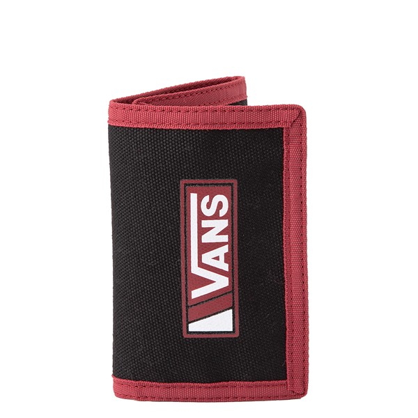 Main view of Vans Drop V Slipped Tri-Fold Wallet - Black / Red