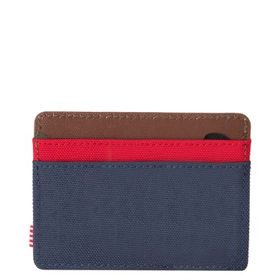 Alternate view of Herschel Supply Co. Charlie Wallet - Navy / Red / Woodland Camo