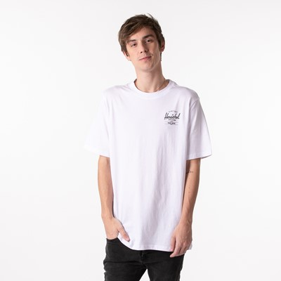 Alternate view of Mens Herschel Supply Co. Classic Logo Tee - White