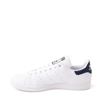 Alternate view of Mens adidas Stan Smith Athletic Shoe - White / Navy