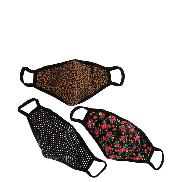 Main view of Womens Face Cover 3 Pack - Leopard / Floral / Polka Dot