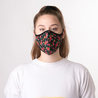 Alternate view of Womens Face Cover 3 Pack - Leopard / Floral / Polka Dot