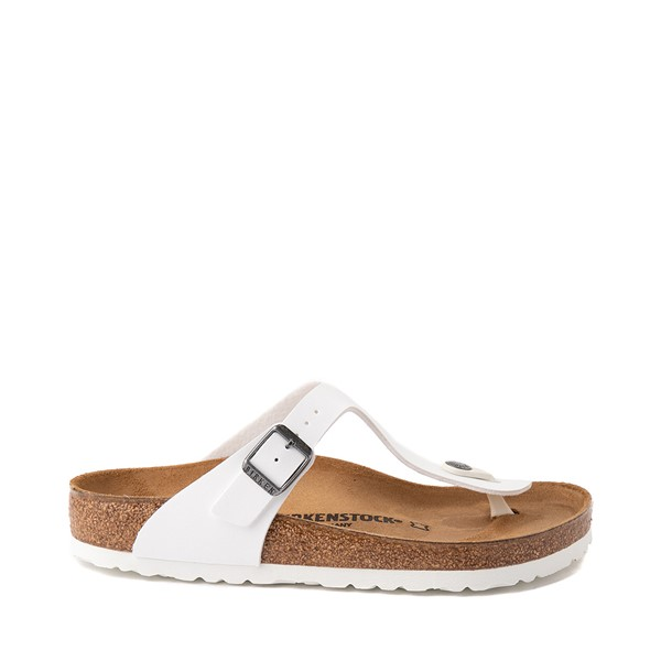 Main view of Womens Birkenstock Gizeh Sandal - White