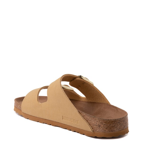 alternate image alternate view Womens Birkenstock Vegan Arizona Sandal - Latte CremeALT1