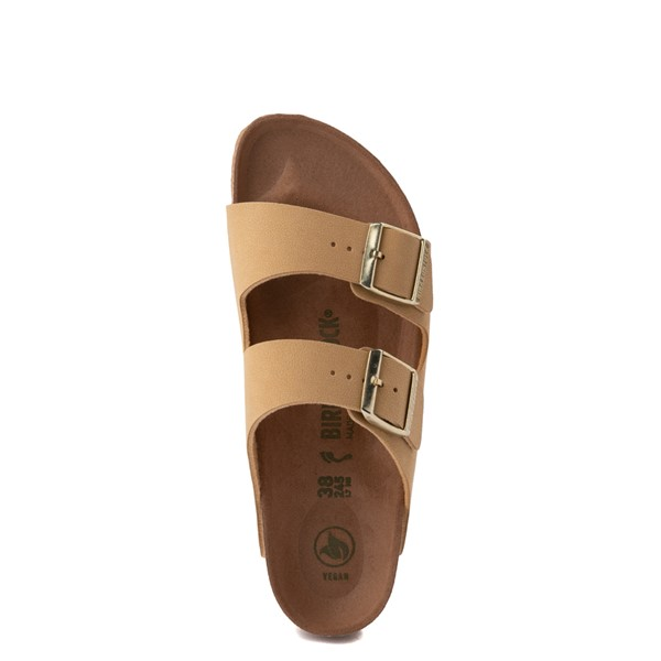 alternate image alternate view Womens Birkenstock Vegan Arizona Sandal - Latte CremeALT2