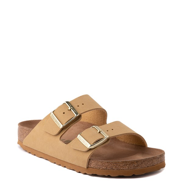 alternate image alternate view Womens Birkenstock Vegan Arizona Sandal - Latte CremeALT5