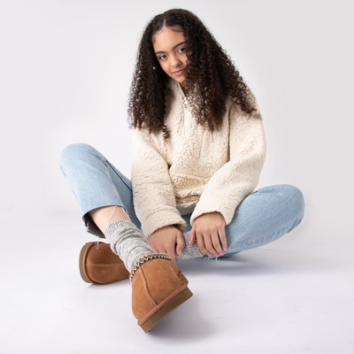 Alternate view of Womens Sherpa Pullover Hoodie - Natural