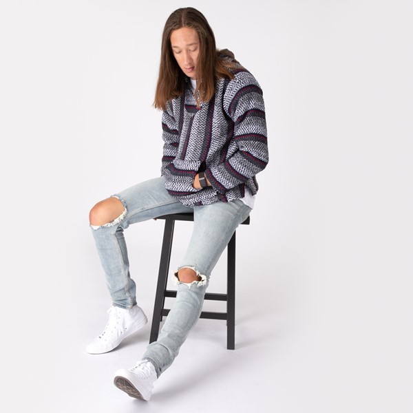alternate image alternate view Mens Baja Poncho - Black / GreyALT1