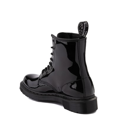 Alternate view of Womens Dr. Martens 1460 8-Eye Patent Boot - Black Monochrome
