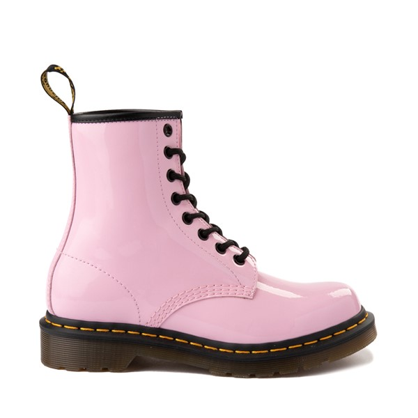 Main view of Womens Dr. Martens 1460 8-Eye Patent Boot - Pale Pink