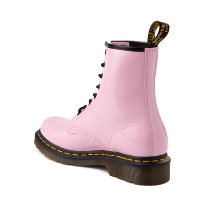 Alternate view of Womens Dr. Martens 1460 8-Eye Patent Boot - Pale Pink