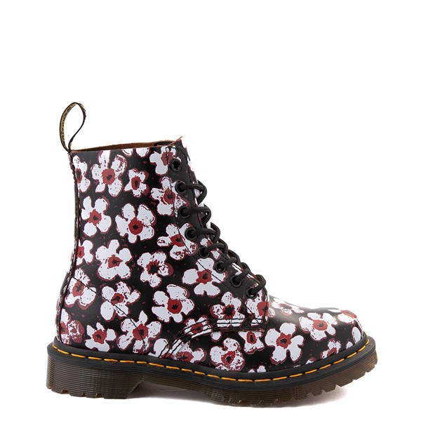 Main view of Womens Dr. Martens Pascal 8-Eye Boot - Black / Pansy Fayre