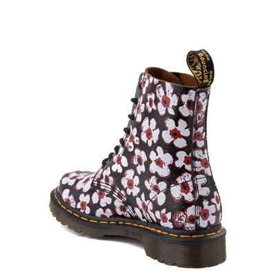 Alternate view of Womens Dr. Martens Pascal 8-Eye Boot - Black / Pansy Fayre