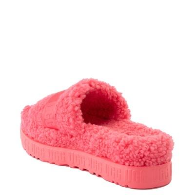 Alternate view of Womens UGG® Fluffita Slide Sandal - Strawberry Sorbet
