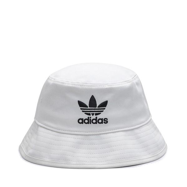 Main view of adidas Trefoil Logo Bucket Hat - White