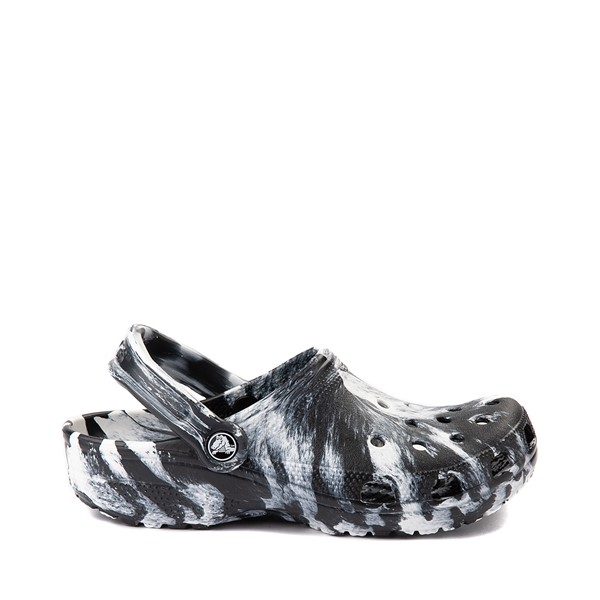 Main view of Crocs Classic Clog - Marbled Black / White