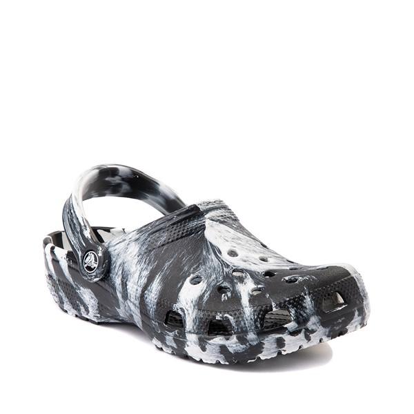 alternate view Crocs Classic Clog - Marbled Black / WhiteALT5