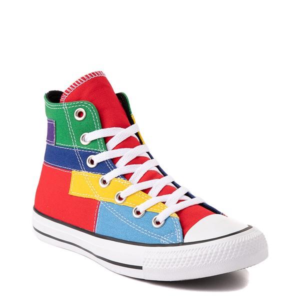 alternate view Converse Chuck Taylor All Star Hi Patchwork Color-Block Sneaker - MulticolorALT5