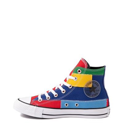 Alternate view of Converse Chuck Taylor All Star Hi Patchwork Color-Block Sneaker - Multicolor