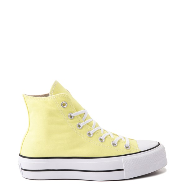 Main view of Womens Converse Chuck Taylor All Star Hi Platform Sneaker - Light Zitron