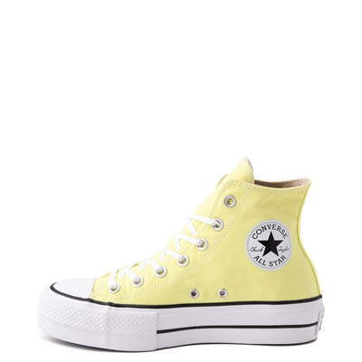 Alternate view of Womens Converse Chuck Taylor All Star Hi Platform Sneaker - Light Zitron