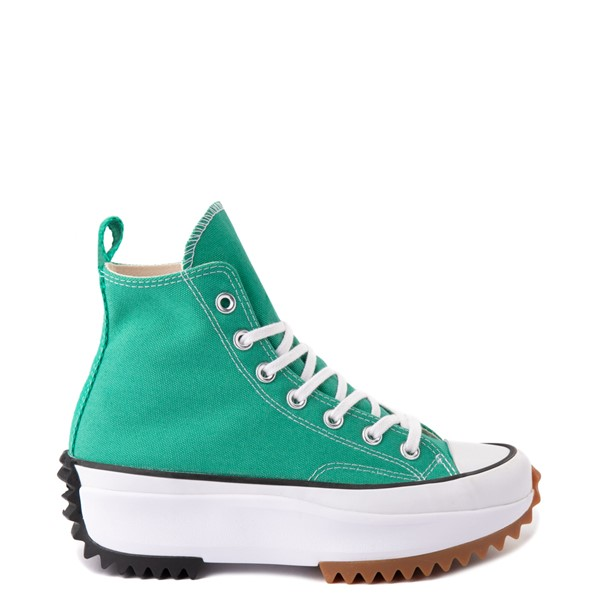 Main view of Converse Run Star Hike Platform Sneaker - Court Green / White / Gum