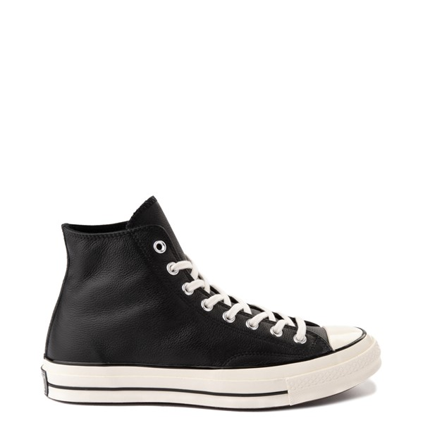 Main view of Womens Converse Chuck 70 Hi Leather Sneaker - Black / Egret