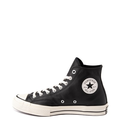 Alternate view of Womens Converse Chuck 70 Hi Leather Sneaker - Black / Egret