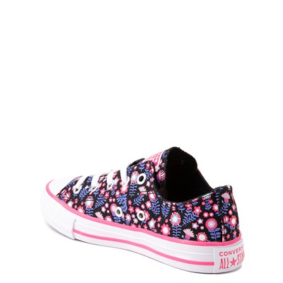 Alternate view of Converse Chuck Taylor All Star Lo Sneaker - Little Kid - Black / Floral