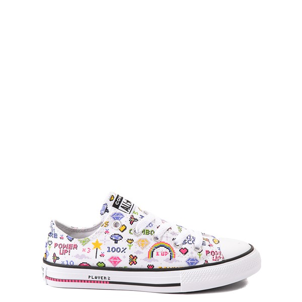 Main view of Converse Chuck Taylor All Star Lo Gamer Sneaker - Baby / Toddler - White