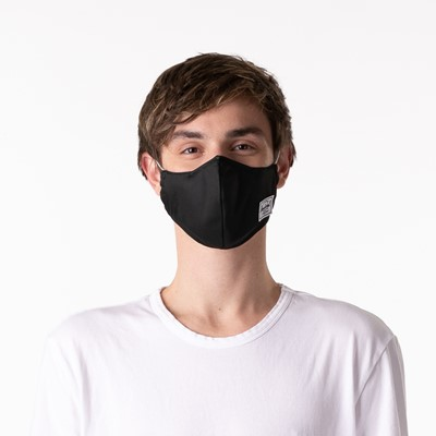 Alternate view of Herschel Supply Co. Classic Fitted Face Mask - Black